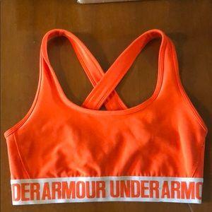 UnderArmor orange sports bra